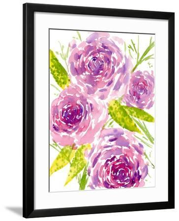 Bouquet Rose II-Melissa Wang-Framed Art Print