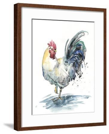 Rooster Splash I-Melissa Wang-Framed Art Print
