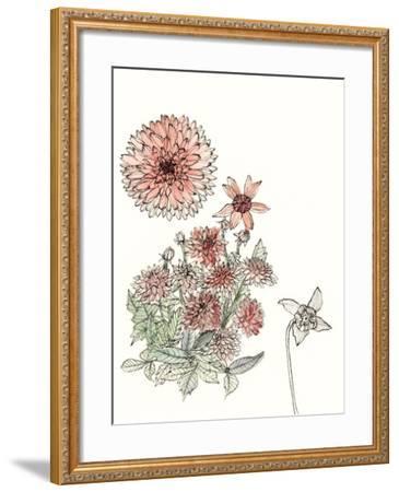 Dahlia Study-Melissa Wang-Framed Art Print