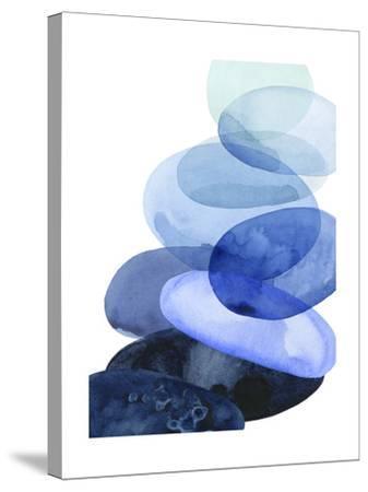 River Worn Pebbles I-Grace Popp-Stretched Canvas Print