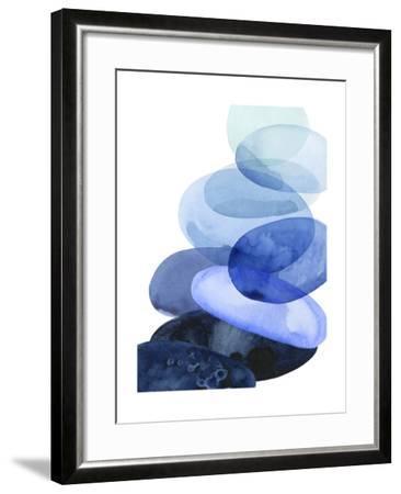 River Worn Pebbles I-Grace Popp-Framed Art Print