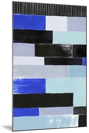 Black & Blue Bricks I-Grace Popp-Mounted Art Print