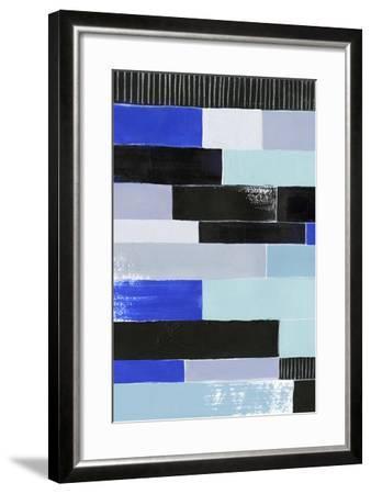 Black & Blue Bricks I-Grace Popp-Framed Art Print