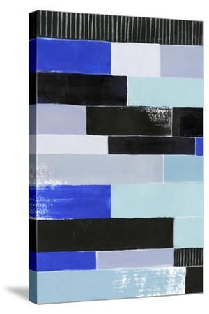Black & Blue Bricks I-Grace Popp-Stretched Canvas Print