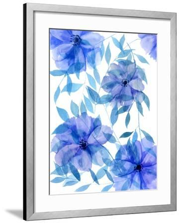 Midnight Flowers II-Melissa Wang-Framed Art Print