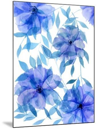 Midnight Flowers II-Melissa Wang-Mounted Art Print