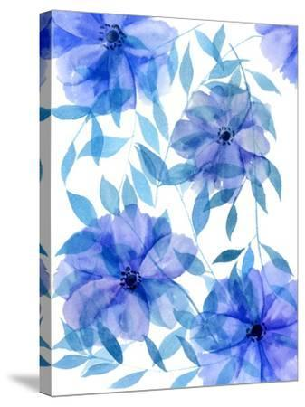 Midnight Flowers II-Melissa Wang-Stretched Canvas Print