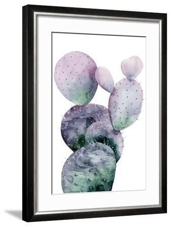 Purple Cactus I-Grace Popp-Framed Art Print