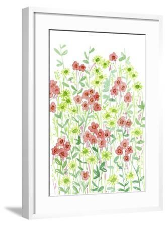 Wall Flowers II-Melissa Wang-Framed Art Print