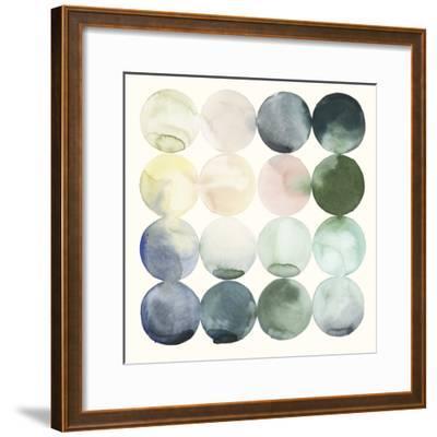 Pastel Hoops II-Grace Popp-Framed Art Print