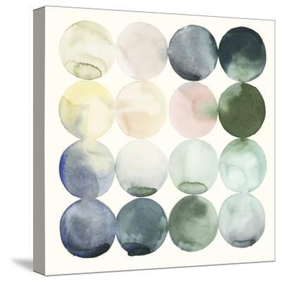 Pastel Hoops II-Grace Popp-Stretched Canvas Print