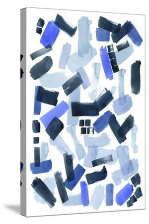 Cerulean Strokes I-Grace Popp-Stretched Canvas Print