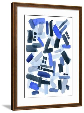 Cerulean Strokes II-Grace Popp-Framed Art Print