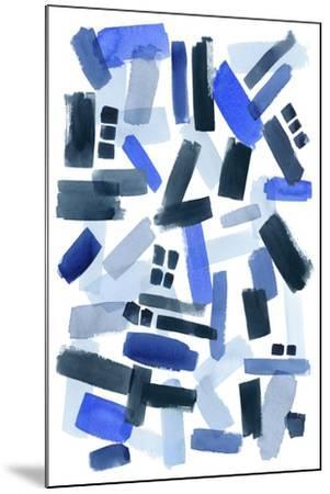Cerulean Strokes II-Grace Popp-Mounted Art Print