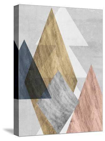 Peaks I-Jennifer Goldberger-Stretched Canvas Print