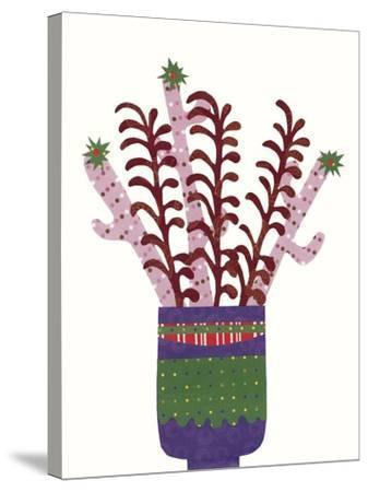 Cheerful Succulent II-Regina Moore-Stretched Canvas Print