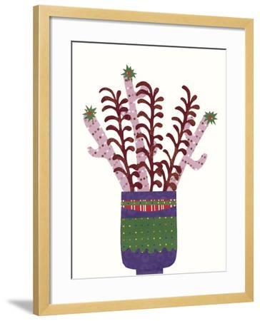 Cheerful Succulent II-Regina Moore-Framed Art Print