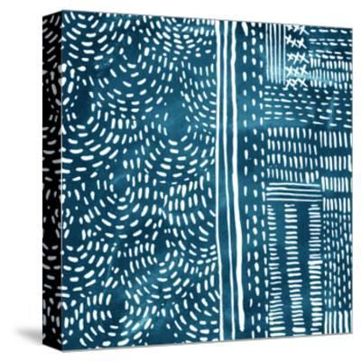 Sashiko Stitches II-Chariklia Zarris-Stretched Canvas Print