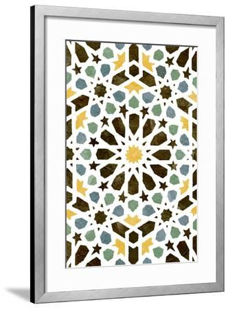 Zellige Board I-Alonzo Saunders-Framed Art Print