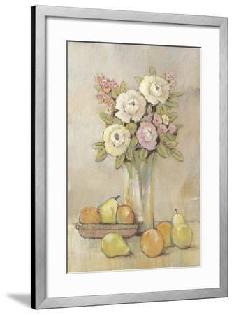 Still Life Study Flowers & Fruit I-Tim OToole-Framed Art Print