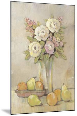 Still Life Study Flowers & Fruit I-Tim OToole-Mounted Art Print