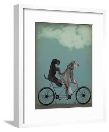 Schnauzer Tandem-Fab Funky-Framed Art Print
