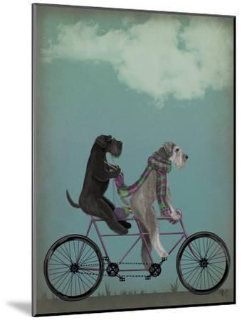 Schnauzer Tandem-Fab Funky-Mounted Art Print
