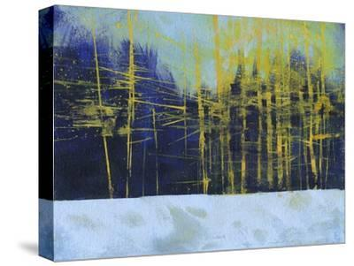 Golden Winter Pines-Paul Bailey-Stretched Canvas Print
