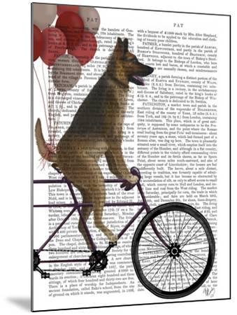 German Shepherd on Bicycle-Fab Funky-Mounted Art Print