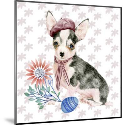 Easter Pups II-Melissa Wang-Mounted Art Print