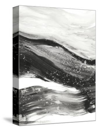 Black Waves I-Ethan Harper-Stretched Canvas Print