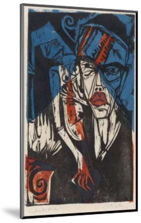 Illustration for 'Peter Schlemihl' by Adalbert Von Chamisso, 1915-Ernst Ludwig Kirchner-Mounted Giclee Print