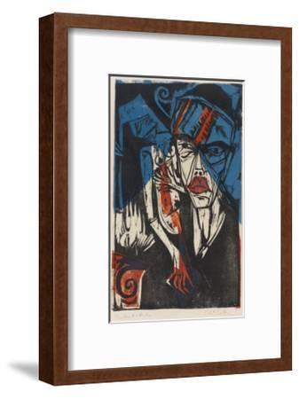 Illustration for 'Peter Schlemihl' by Adalbert Von Chamisso, 1915-Ernst Ludwig Kirchner-Framed Giclee Print