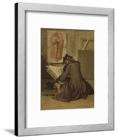Young Student Drawing-Jean-Baptiste Simeon Chardin-Framed Giclee Print