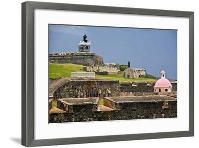 El Morros Defense, Old San Juan, Puerto Rico-George Oze-Framed Photographic Print
