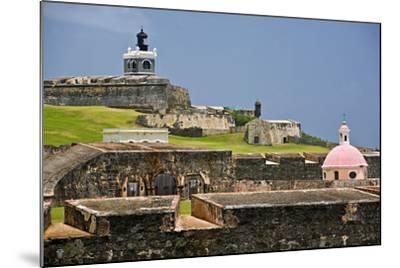 El Morros Defense, Old San Juan, Puerto Rico-George Oze-Mounted Photographic Print
