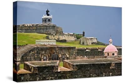 El Morros Defense, Old San Juan, Puerto Rico-George Oze-Stretched Canvas Print