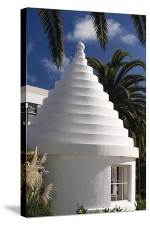 Limestone Roof, Hamilton, Bermuda-George Oze-Stretched Canvas Print