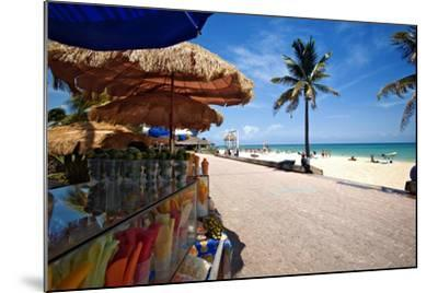 Fruit Stands on Playa Del Carmen, Mexico-George Oze-Mounted Photographic Print