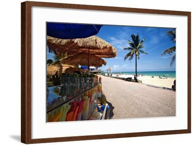 Fruit Stands on Playa Del Carmen, Mexico-George Oze-Framed Photographic Print