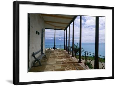 Balcony View, Commissioner House, Bermuda-George Oze-Framed Photographic Print