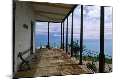 Balcony View, Commissioner House, Bermuda-George Oze-Mounted Photographic Print