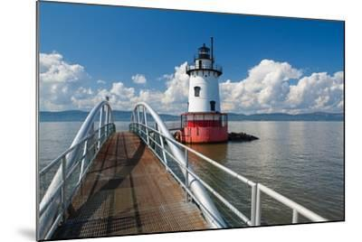 Tarrytown Lighthouse on the Hudson River-George Oze-Mounted Photographic Print