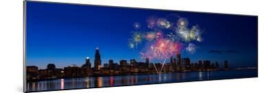 Chicago Lakefront Fireworks-Steve Gadomski-Mounted Photographic Print