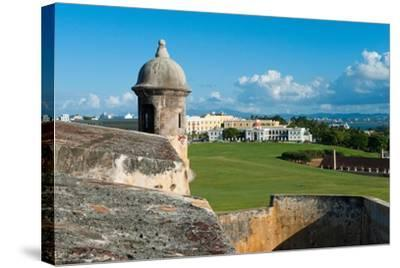 San Juan Scenic View from El Morro Fort-George Oze-Stretched Canvas Print