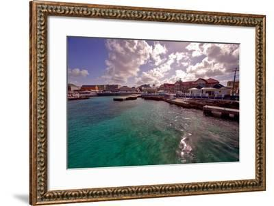 Georgetown Harbor Early Morning Cayman Islands-George Oze-Framed Photographic Print
