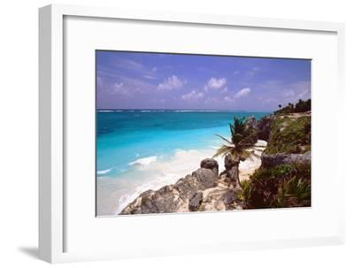 Rocky Beach Mayan Riviera Tulum Mexico-George Oze-Framed Photographic Print