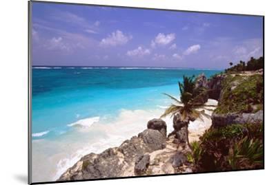 Rocky Beach Mayan Riviera Tulum Mexico-George Oze-Mounted Photographic Print