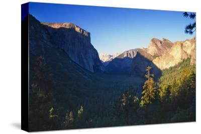 Tunnel View of the Yosemite Valley California-George Oze-Stretched Canvas Print