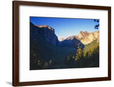 Tunnel View of the Yosemite Valley California-George Oze-Framed Photographic Print